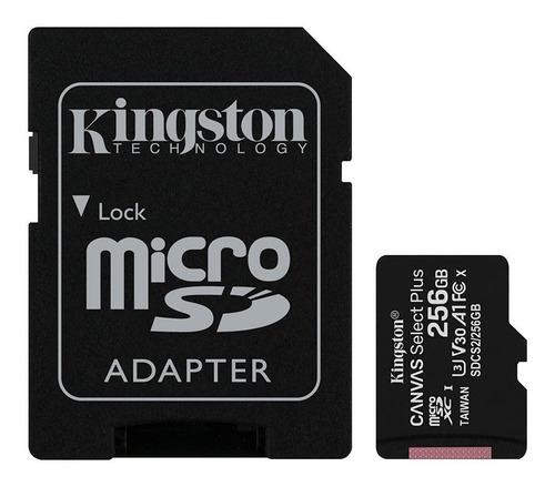 Imagen 1 de 4 de Tarjeta De Memoria Micro Sd 256gb A1 + Adaptador Sd Kingston