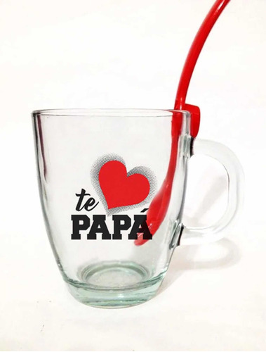 Pack 15 Tazas Dia Del Padre +cuchara Para Colgar De Regalo!!