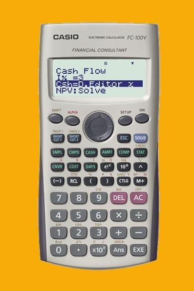 Calculadora Financeira Casio Fc 100v | Nova | 12x Sem Juros