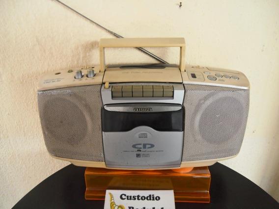 Antigo Raro Rádio Toca Fita Cd Aiwa (cd Precisa De Revisão)