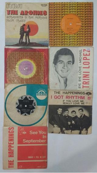 7 Compactos Vinil Rock Interncional Anos 60 Pop Frete Grátis