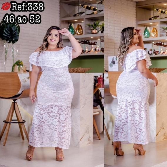 Vestido Feminino Plus Size Renda Reveillon Casamento