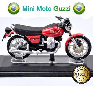 Miniatura Moto Guzzi Escala Metal 1:22 100% Novo Pronta Ent