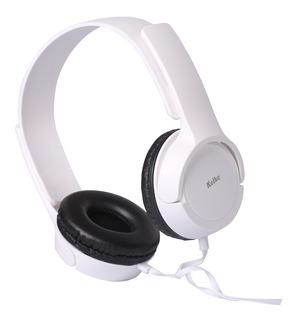 Auricular Estéreo P/ Tv Kat-098 Cable 3,5mm 5mt Blanco/negro