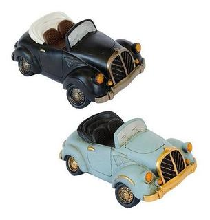 Pack De 2 Alcancías Cerámica Auto Vintage