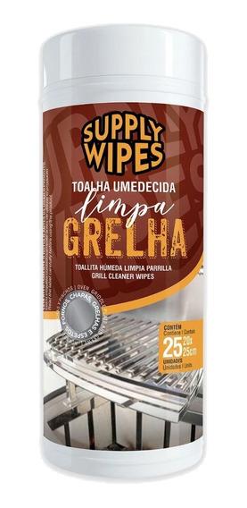 Lenço Umedecida Limpa Grelha Pt C/25 Uni 20x25 Supply Wipes