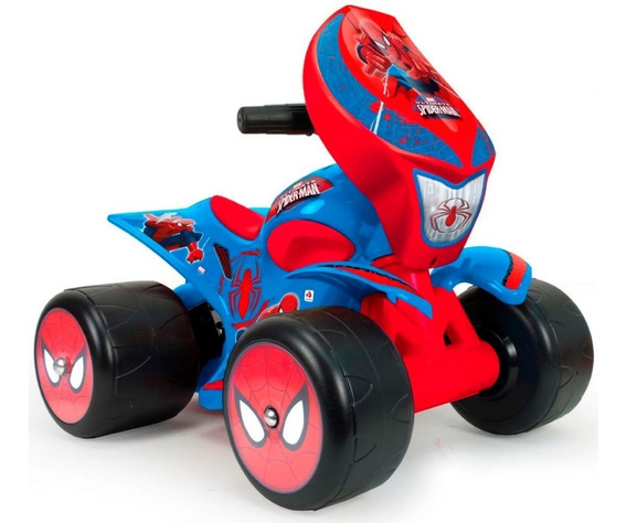 Cuatrimoto Quad Wrestler Montable Spiderman 6v Injusa