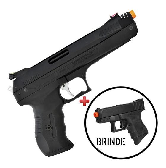Pistola Pressão Chumbinho Beeman 5.5mm + Pistola Brinde 6mm
