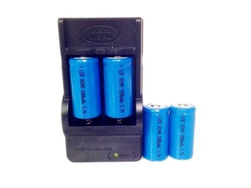 En El Way®4 Pilas 16340 2000mah Li-ion 3.7v Batería Recargab