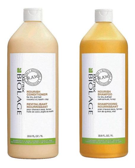 Biolage Raw Nourish Shampoo Y Acondiconador De Litro