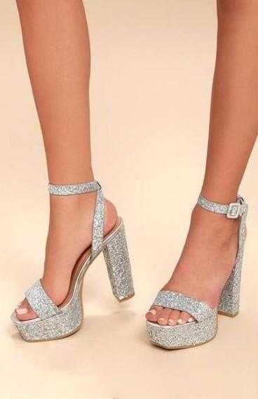 Zapatos Con Glitter Nuevos