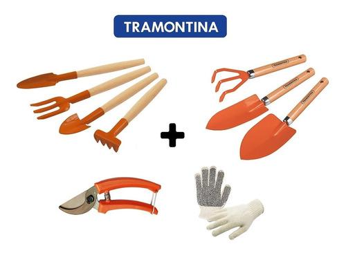 Conjunto Jardinagem Completo Tramontina 8 Peças + Luvabrinde