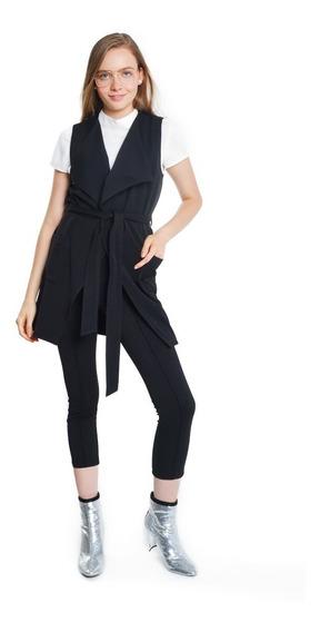 Pantalón Mujer Tipo Leggins Tira Lateral Color Negro Lob