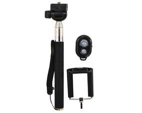 Bastão Selfie Preto Extensor Para Foto Controle Bluetooth
