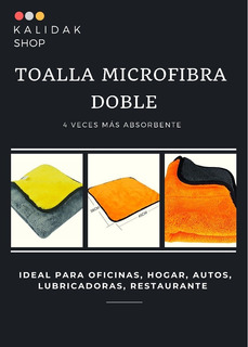 Kit 3 Toallas Doble Microfibra