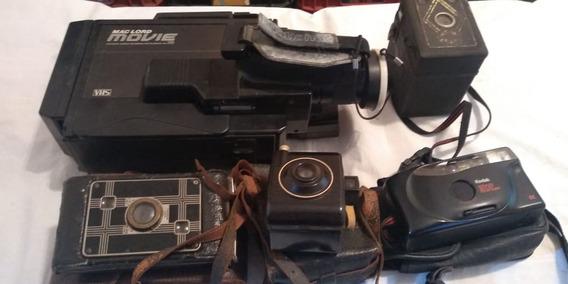 Lote Antigas Maquina Camera Fotografica Restauração Peças