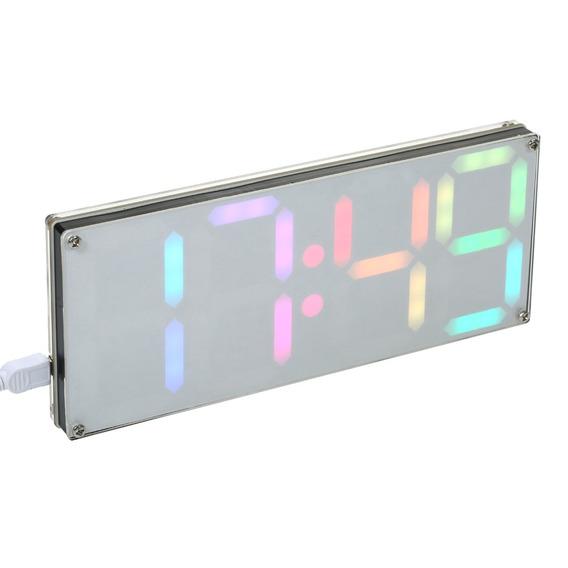 Ds3231 Diy Estojo Relógio Led Digital 4 Dígitos Com Cores Ar