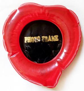 Portarretrato Con Forma De Corazón - Inflable - Foto De 9 Cm