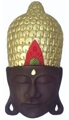 Buda Cabeça Hindu Tailandes Máscara Parede 49cm