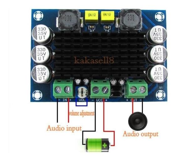 Amplificador 120w + Placa Us Bluetooch + Fonte 24v +12v ,