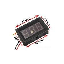 Voltímetro Digital 3fios P/painel Led Vermelho 0v-30v