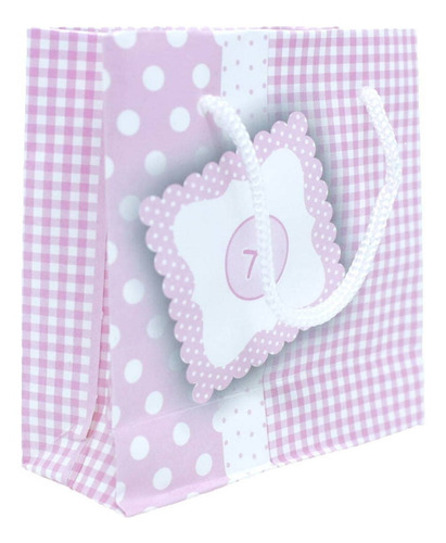 100 Sacolinhas Para Presentes Bebê Rosa - 10 X 10 Cm