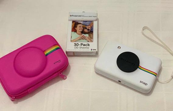 Câmera Instantânea Polaroid Snap Semi Nova Com 30 Filmes