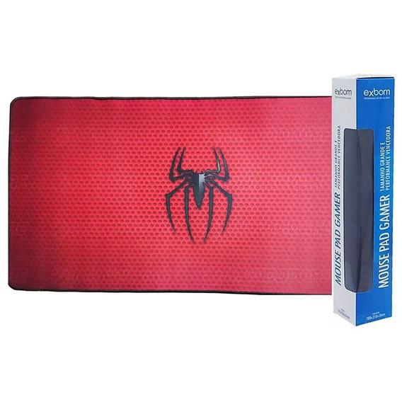 Mouse Pad Gamer Barato Gigante 70x35 Borda Costurada Spider