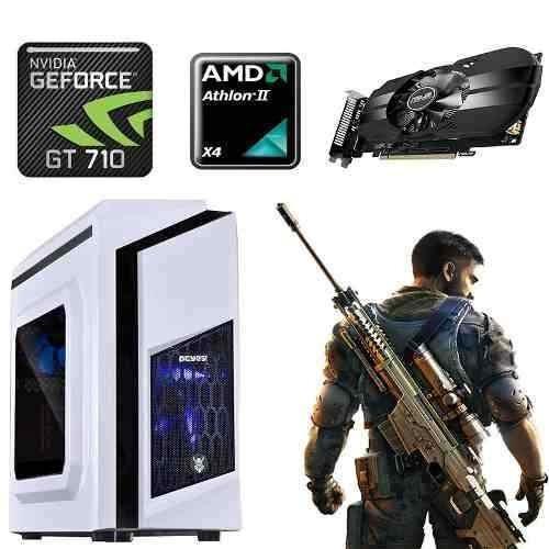 Pc Gamer Amd X4, Geforce 2gb 710gt, 4gb, 1tb, Gabinete Pcyes