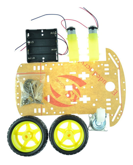 2wd Inteligente Robot Car Chassis Kit/velocidade Encoder Bat