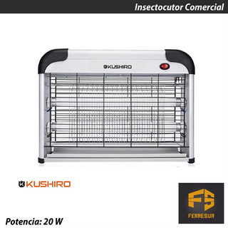 Insectocutor Comercial 20 W Mata Moscas Y Mosquitos Kushiro