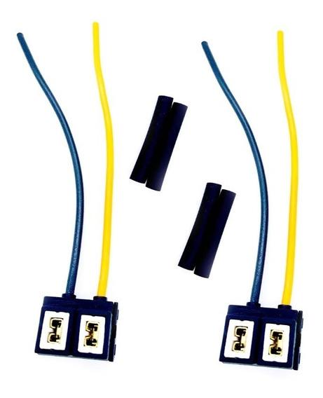 2x Soquete Farol Lâmpada H7 C/fio 1,5mm Super Branca E Xenon