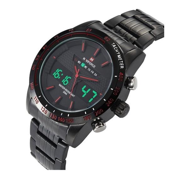 Relógio De Pulso Masculino 9024 Pv Naviforce