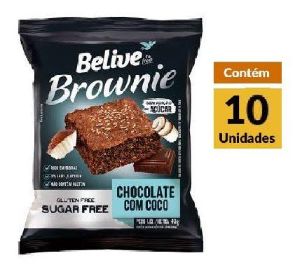 Imagem 1 de 1 de Brownie Chocolate Coco Zero Belive Display 10x40g