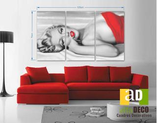 Cuadro Decorativo 3 Pzs Elegant Marilyn Monroe Alfadeco