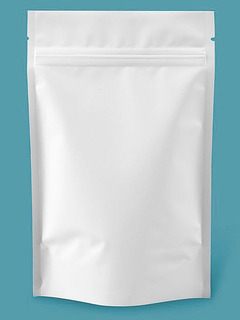 1000 Bolsas Stand Up Pouch Blanco Mate De 5x8x2 1/2