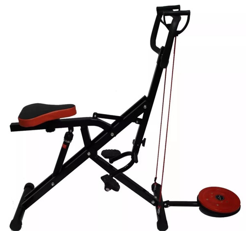 Maquina Fitness Fit Body Total Horse Crunch Monitor Cilindro
