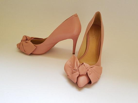 Lindíssimo Scarpin Schutz Nunca Usado Rosa Pastel Promoção!!