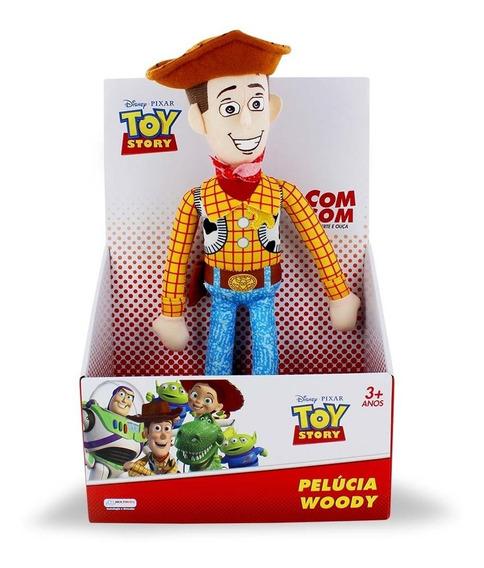 Pelúcia Woody Toy Story 30cm Com Som Frete Grátis