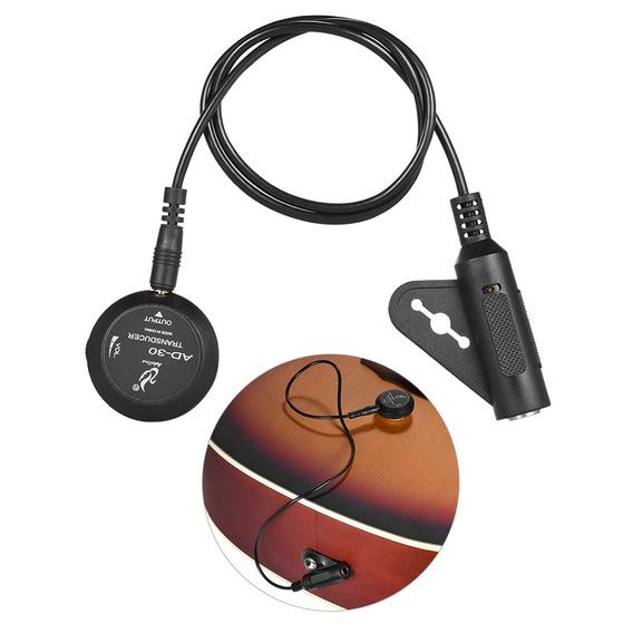 Adeline Ad-30 Mini Piezo Pickup Transdutor De Microfone De