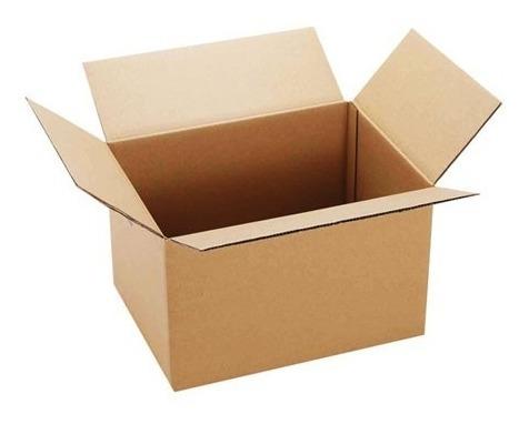 Imagen 1 de 3 de Caja De Cartón Para Embalaje Color Marron 40x30x30cm 5un