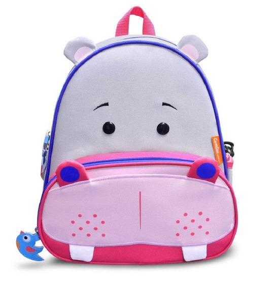 Mochila Infantil Let S Go - Comtac Kids - Hipopotamo