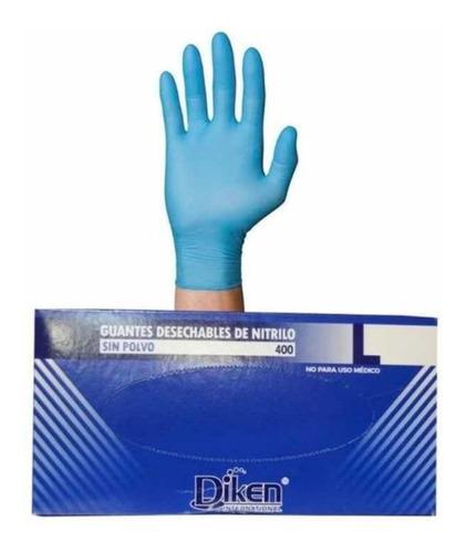 Imagen 1 de 1 de 100 Pz Guante Nitrilo Azul Grande Azul Sin Polvo Ambidiestro