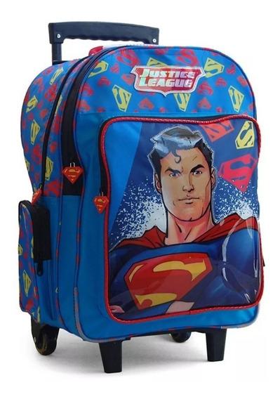 Mochila Escolar Carro Liga Justicia Flash Superman Batman