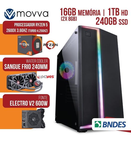 Computador Gamer Amd Ryzen 5 2600x 3.6ghz Mem. 16gb (2x 8gb)