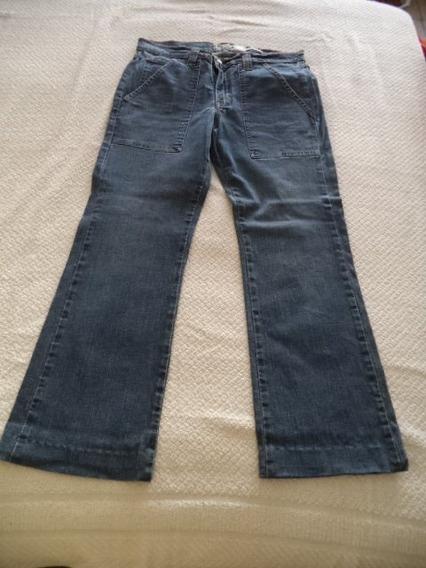 Pantalon D Mezclilla Jeans Old Navy Azul Strech Dama 10
