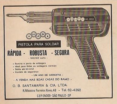 Pistola Soldar Osledi Relíquia Decada 70 Para Uso Eletronica