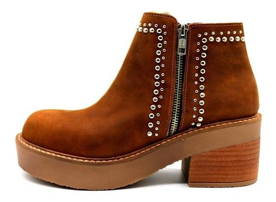 Zapatos Botas Botinetas Botitas Mujer Cuero Suela Leblu 813