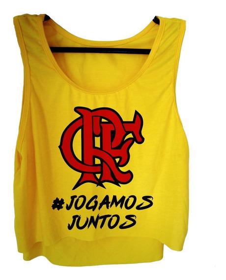 Blusa Cropped Flamengo Feminina Camiseta Regata Rio 2020