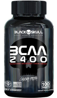 Bcaa 2400 Caveira Preta - 100comp - Black Skull
